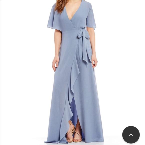 d5fe67a879c H halston ruffle tie front wrap dress. NWT
